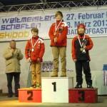 Slalom žáci mladší zleva Ablinger D Knieger S Baláček Jan