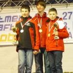 Slalom žáci starší zleva Harnach D Seeber G Wegmayr L