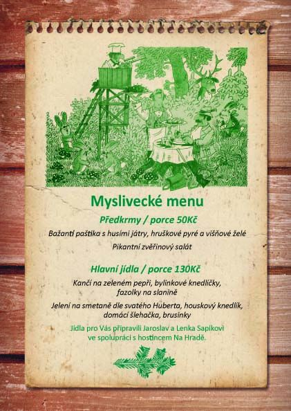 myslivecké menu_cena kopie