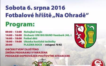 SLATINA N. Z. – TJ Sokol Slatina nad Zdobnicí a SDH Slatina nad Zdobnicí pořádají pod záštitou Obecního úřadu Slatinskou pouť.