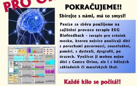 """RYCHNOV N. K. – O terapii EEG Biofeedback jste možná nedávno slyšeli v souvislosti s kampaní Přes překážky ke hvězdám, kterou pořádalo Centrum Orion a jejíž výtěžek byl věnován právě<a class=""""moretag"""" href=""""http://www.orlickytydenik.cz/trenink-mozku-pomoci-terapie/"""">...celý článek</a>"""