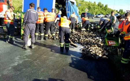 """PARDUBICKÝ KRAJ – VHolicích zasahovali ve čtvrtek 1. června v17.37 hodin hasiči u neobvyklé nehody. Na kruhovém objezdu se protrhla plachta kamionu a následně došlo kvysypání nákladu na silnici. Náklad<a class=""""moretag"""" href=""""http://www.orlickytydenik.cz/pivo-teklo-po-silnici/"""">...celý článek</a>"""