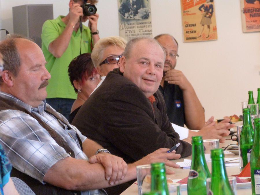 Mělčany - starostové Pohoří a Českého Meziříčí na jednání o Mělčanech