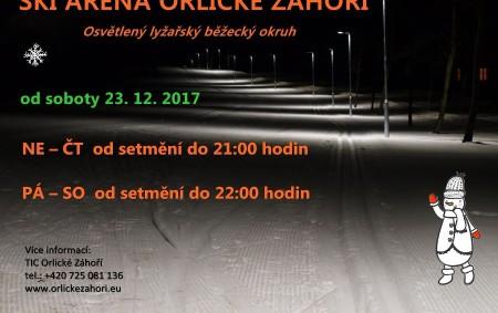 """ORLICKÉ ZÁHOŘÍ – Den před Štědrým dnem otevřeli v Orlickém Záhoří první osvětlený okruh pro běžkaře v Orlických horách. Okruh měří zhruba čtyři a půl kilometru, trať leží ve výšce<a class=""""moretag"""" href=""""http://www.orlickytydenik.cz/prvni-osvetleny-okruh-ma-zatim-malo-snehu/"""">...celý článek</a>"""