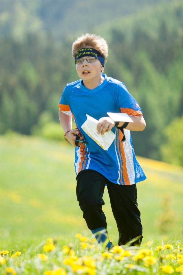 Dominik Jiroušek ve finiši na klasické trati.                  Foto: Petr Kadeřávek