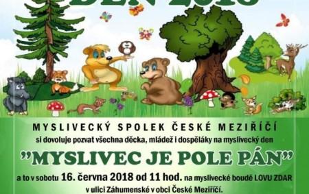 """ČESKÉ MEZIŘÍČÍ -Myslivecký spolek České Meziříčí zve na myslivecký den, který se koná v sobotu 16. června od 11 hodin v myslivně, kde budou nachystána stanoviště jak se zručnostními, tak<a class=""""moretag"""" href=""""http://www.orlickytydenik.cz/v-ceskem-mezirici-oslavi-16-cervna-myslivecky-den/"""">...celý článek</a>"""
