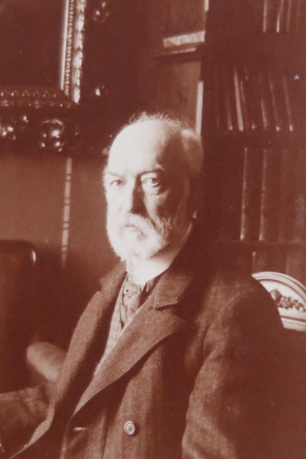 F.A.Šubert krátce před smrtí ve svém pražském bytě