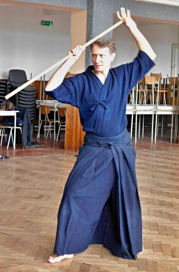 Učitel džódó - Pavel Tomeš.