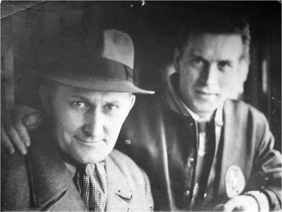 Josef Šklíba s Bóžou Modrým.