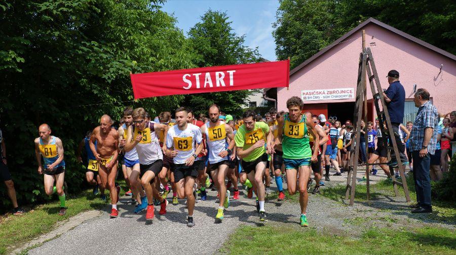 Start závodu.   Foto: Leoš Dragúň.