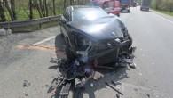 TÝNIŠTĚ N. O. – Dvě jednotky hasičů odstranily 4. května následky dopravní nehody dodávky a osobního vozidla, ke střetu došlo na silnici č. 11 vulici V. Opatrného. Havarovaná vozidla blokovala